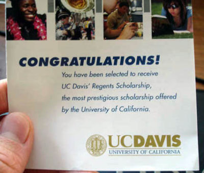 uc davis regents application now open